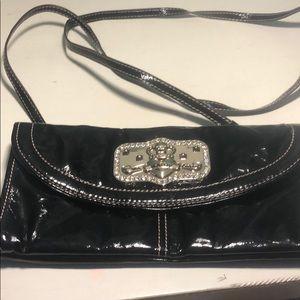 Kathy Vanzeeland black shoulder strapped bag
